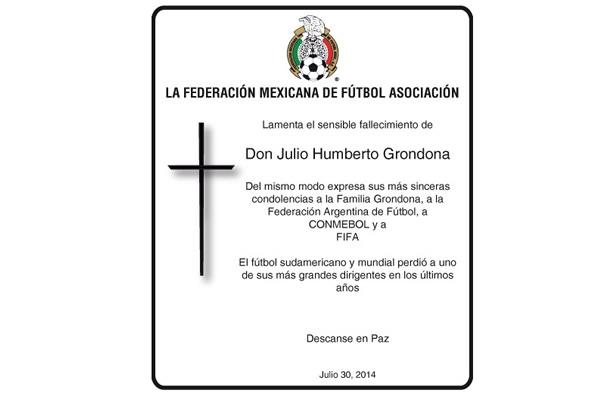 Manifestó Fmf Condolencias Por Muerte De Julio Grondona
