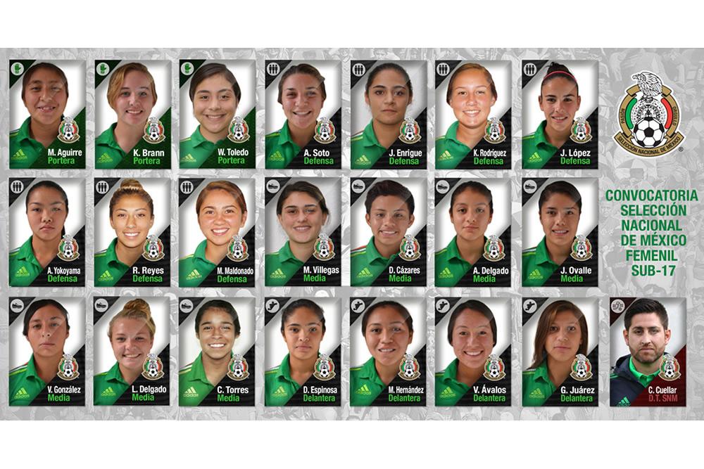 Listas las elegidas para representar a México en el Mundial Sub-17 bb4aa4bce276d