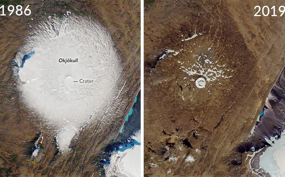La NASA muestra cómo se derritió el glaciar de Islandia en 33 años