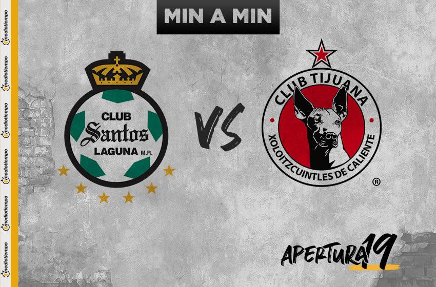 Santos vs Tijuana: OnLine y en vivo; Jornada 14, Apertura 2019