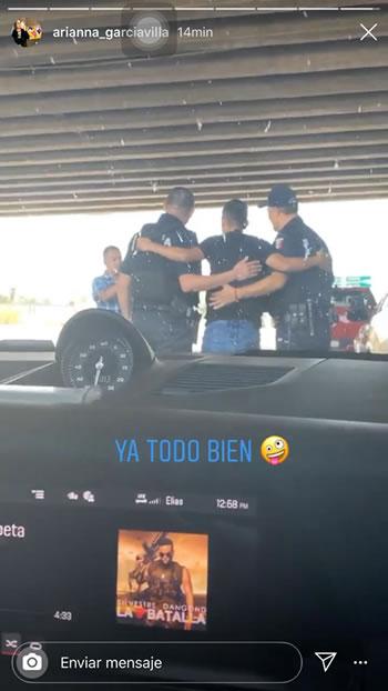 Elías Hernández viaja en plena cuarentena y se abraza con policías tras ser detenido