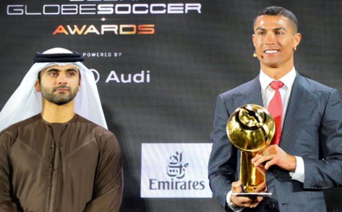 Cristiano Ronaldo takes the prize as the best sailing player