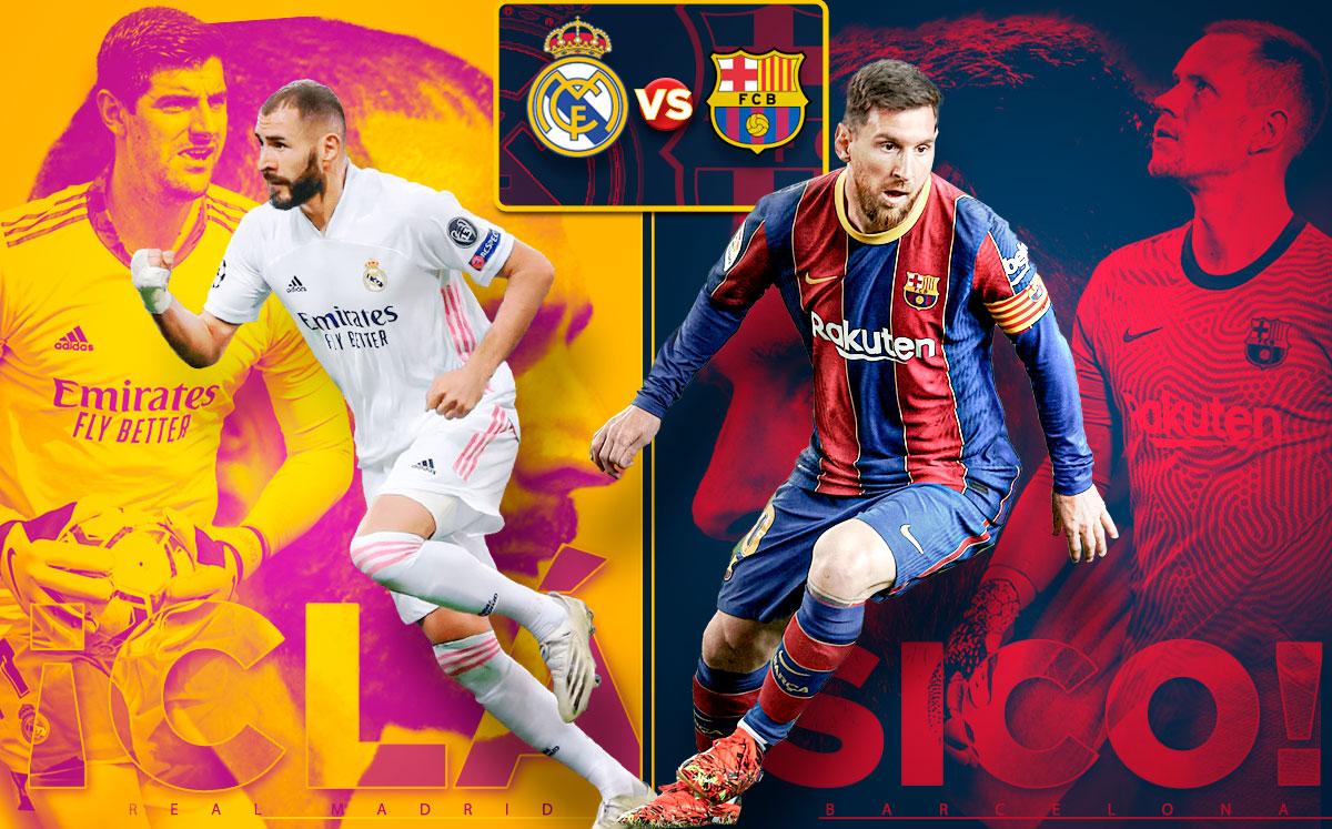 Así llegan Real Madrid vs Barcelona a El Clásico - Mediotiempo
