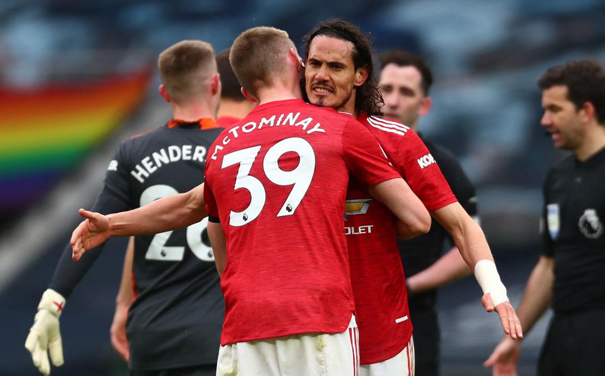 El United gana al Tottenham (1-3) y atrasa el Alirón del City