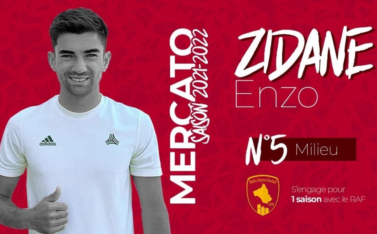 Enzo Zidane, el hijo de Zinedine Zidane, ficha con el Rodez VIDEO -  Mediotiempo