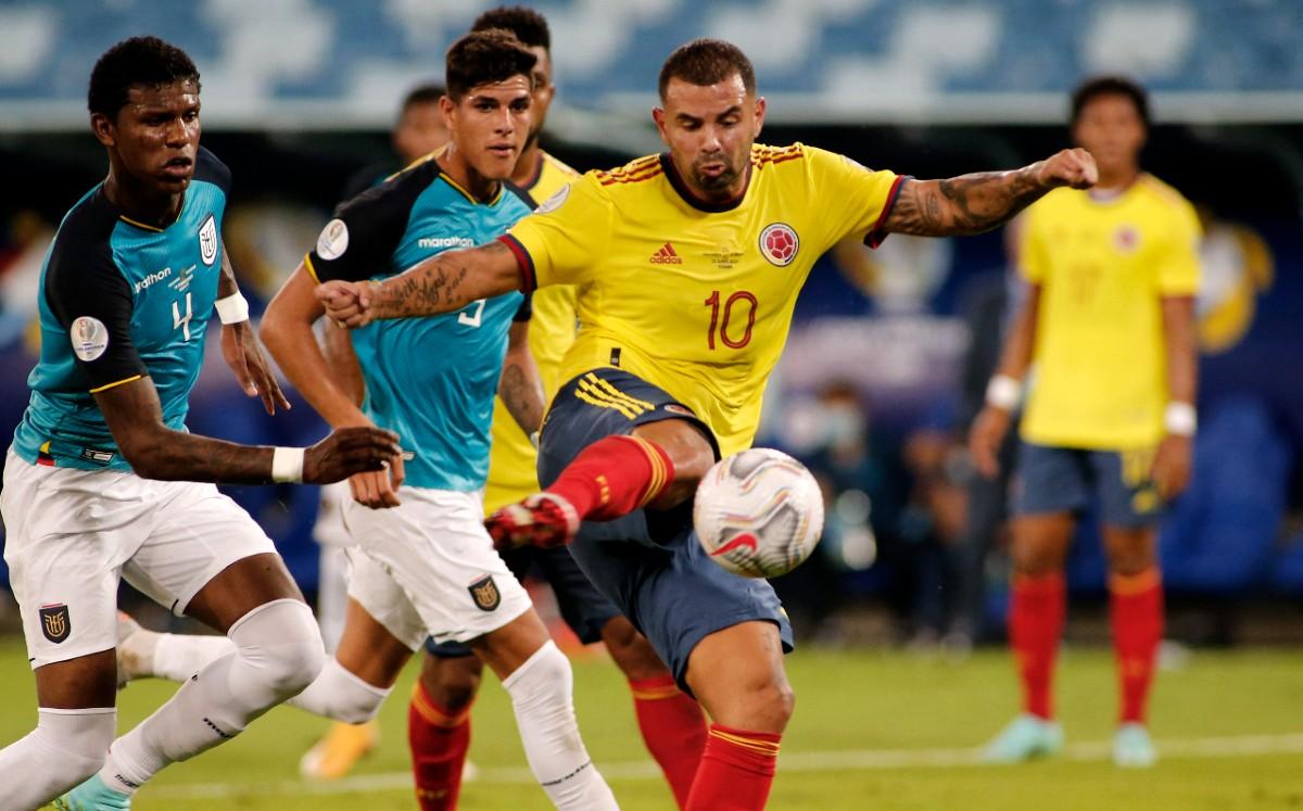 Edwin Cardona, autor del gol de Colombia en la victoria 1-0.