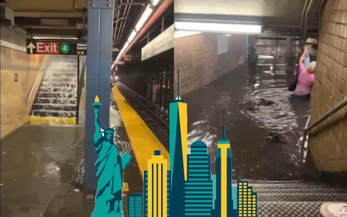 Fuertes inundaciones provocan impactantes videos en New York