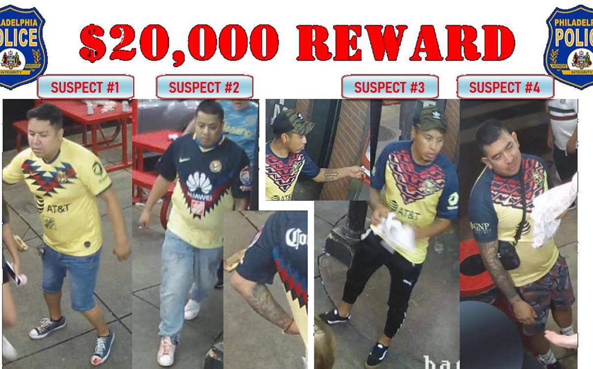 Policía de Filadelfia identifica a aficionados de América que mataron a un hombre, ofrece 20,000 dólares por información