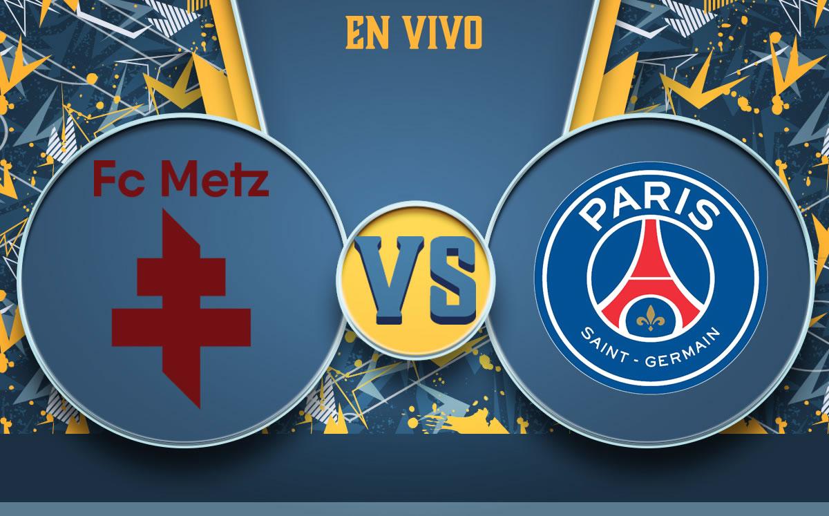 Metz vs París Saint-Germain EN VIVO. Partido del PSG de Ligue 1