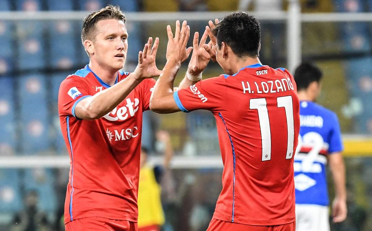 Con dos asistencias de Chucky Lozano, el Napoli asalta el liderato de la Serie A