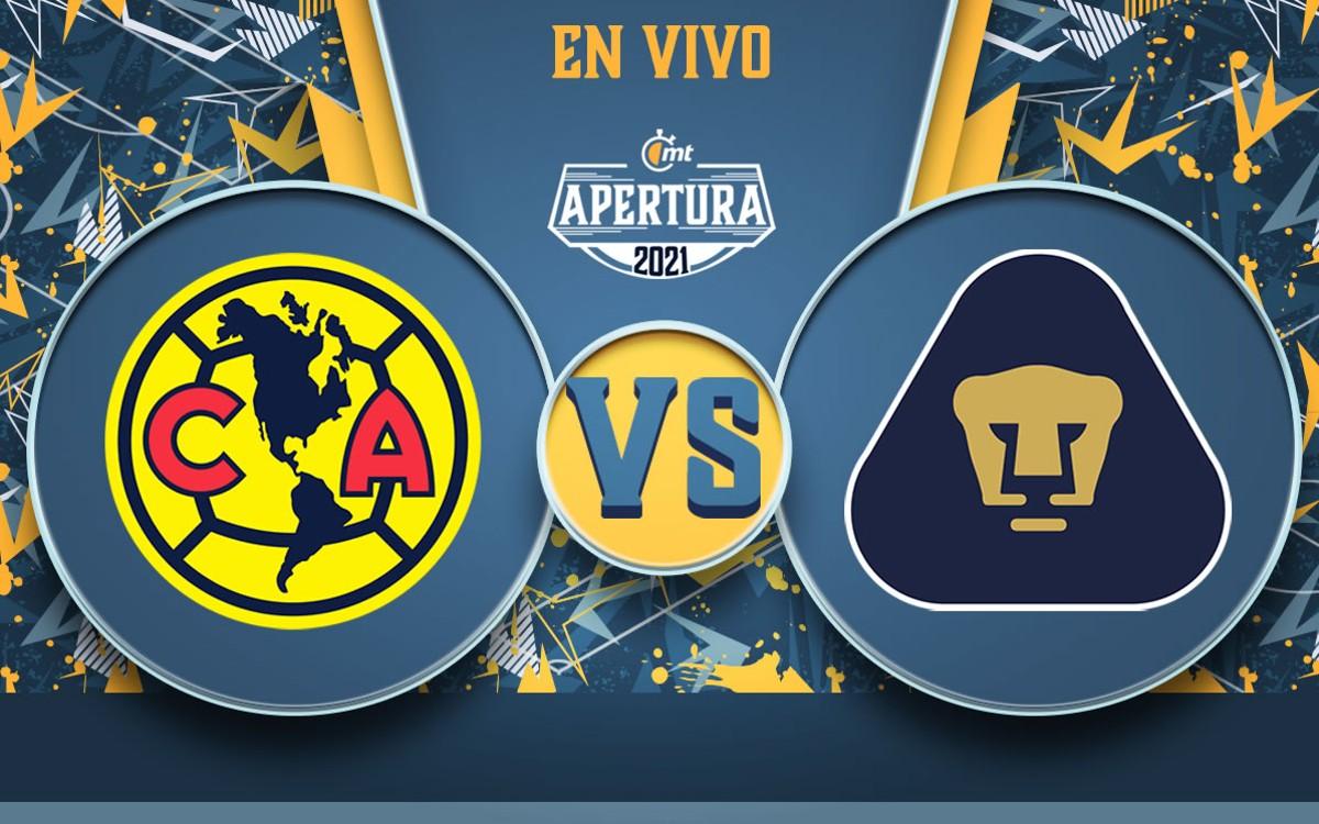 América vs Pumas EN VIVO. Partido de Liga MX HOY