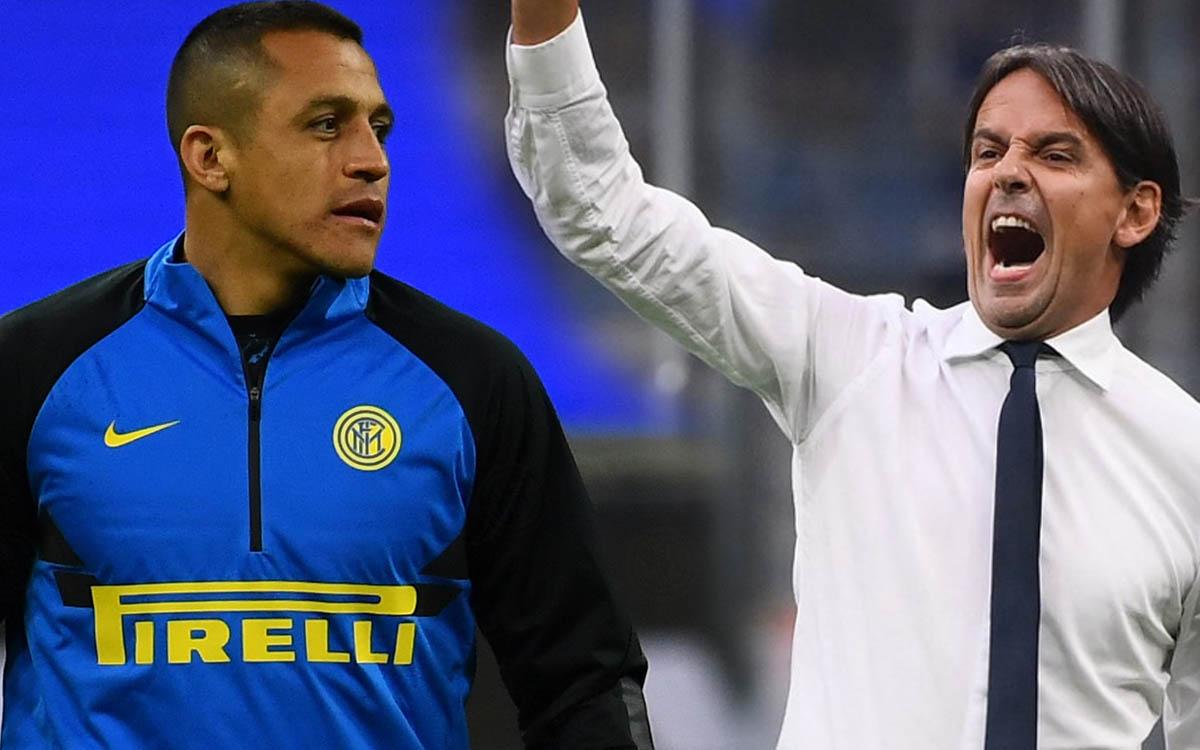 Alexis Sánchez arremetió contra el Inter e Inzaghi en redes, y luego lo borró