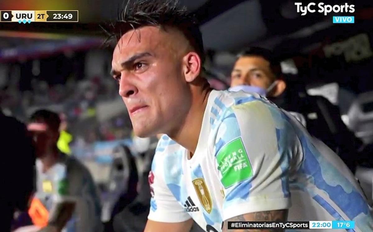 Lautaro Martínez contó porqué lloró tras su gol con Argentina